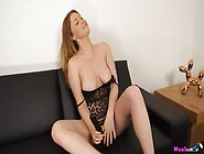 Hot Leopard Print Lingerie On This Big Titty Babe