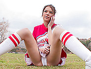 Sexy Cheerleader With Tremendous Tits Fucked Hardcore