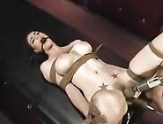 Gag-Man 021 Ballgagged+Bound Dildo-Machine