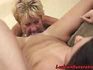 Lesbian Granny Rimmed By Teen After Oral