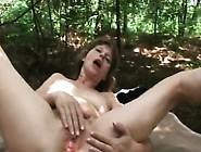Brunette Granny Fingering Riding Dick Outdoors