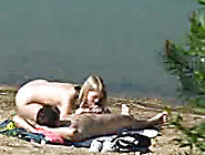 Horny Couple Caught On Hidden Camera Fucking On The Beach