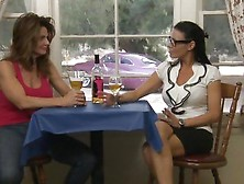 A Glass Of Wine And Some Milf Lesbian Action