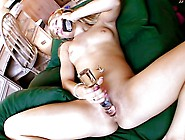 Nasty Blond Touches Her Clito & Executes A Nasty Squirt