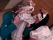 Food Fight Sluts Attacking Each Other With Cake