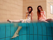Mesmerizing Pair Of Hot And Sexy Whtie Teen Babes In The Pool
