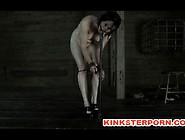 Bdsm Slave Poppy James - Gag Whip Cane And Chains