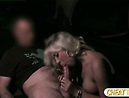 Busty Amateur Flashes Tits In Taxi For A Free Ride And She Gets