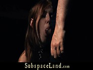 Restrained And Whipped Redhead Slave Begs For Mercy