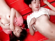 Beauty Japanese Chicks With Shaved Cunts Are Having Gangbang