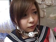 Innocent Japanese Schoolgirl In Uniform Brutally Abused By Perve