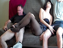 Nylon Footjob With A Sexy Milf
