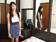 Cap Skinny Asian Jerking Her Cock