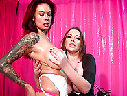 Tera Patrick And Anastasia Pierce Hook Up For A Hot Lesbian Sess