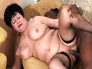 Fat Granny Gets On A Black Dick To Fuck And Then Moves To Her Si