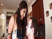 Sexy Brunette Mexican Doll With A Hairy Muff Takes A Hard Anal F