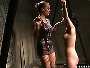 Voracious Domina Jams Big Firm Tits And Labia Of Salty Brunette