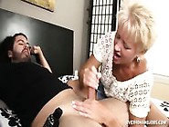 Mature Blonde Rubs Tiny Dick
