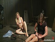 Sexy,  Fit Bondage Slaves Interlocked,  Machine Fucked And Pussy S
