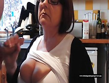 Mature British School Dinner Lady Agrees To Wank Me Off And Lick