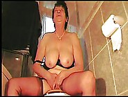 Dirty Minded Granny In Erotic Lingerie Is Masturbating In Her To