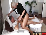 Curvy Mom Riding Her Son's Big Cock Hard