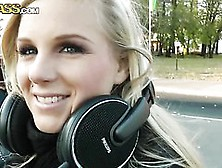Hot Blonde Stops Bumping To Music For A Hot Public Fuck