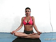 Chesty Milf Seducing Hot Teen Blonde Guy At A Yoga Class