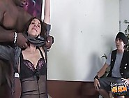 Dark Haired Woman Is Sucking The Biggest,  Black Dick She Has Eve