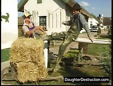 Farmers Bang A Horny Babe On The Street