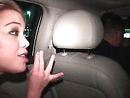 Chesty Blonde Eating Cock In Car Gangbang