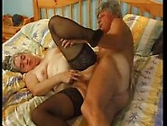 Hairy Chubby Granny In Stockings Fucks More