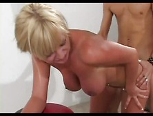 Milf Busty Allison Gets Fucked & Facialized By 2 Guys