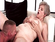 Big Tits Granny Gives A Sexy Blowjob