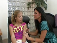 Naughty Teen Is Seduced By Older Lesbo India Summer