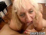 Blonde Mature Fattie Enjoys Cum On Her Face