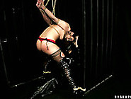 Tied Up Hooker In Fishnet Stockings Is Sexually Tortured In Kink