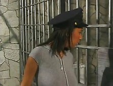 Redhead prison guard does cavity search with strapon - 2 part 6