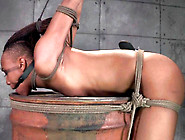 Cute Ebony Babe Nikki Darling Tied Up And Teased