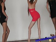 3 Hot Girls Dancing In Too Short Minidress ! Enjoy Upskirt Panty