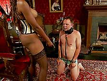 Nyomi Banxxx The Ebony Mistress Tortures Guy's Balls And Dick