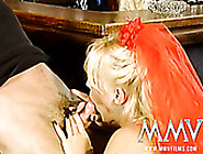 Bosomy Blond Haired Abbe In Sexy Lingerie Sucks Staff Cock Arden