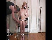 Blonde Gets Tied Up And Touched