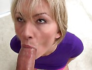 Holly Marie Bryn Is A Blonde That Is Giving A Blow Job And Is Ta