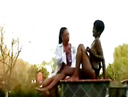 Porsha Carrera - Taylor Starr Wet N Oiled Ebony Lesbians