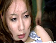 Luscious Japanese Harlow Gets Her Perky Tits Stimulated With Min