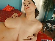 Busty Brunette Has A Big Cock She Has To Handle