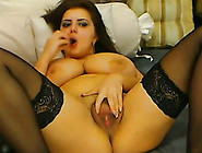 Cute Bbw Whore With Huge Tits Is Thrusting A Finger Up Her Pussy