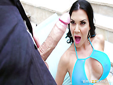Long Pink Torpedo Appears Very Close To Freaking Out Milf Face!