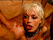 Naughty Blonde Milf Face Fucking A Stiff Dong As She Gets Scored